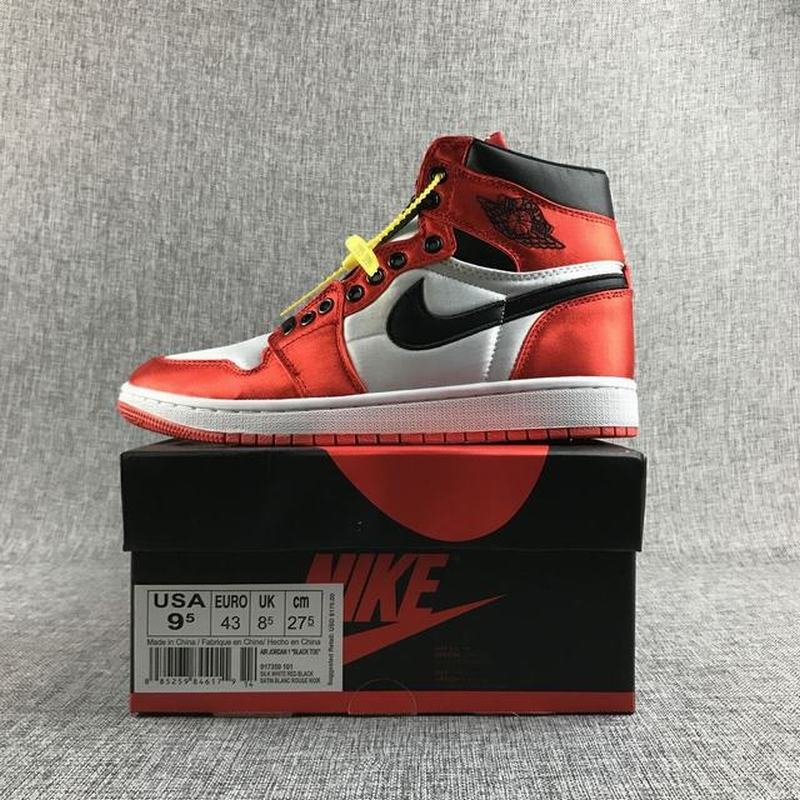 Air Jordan 1 High Men Casual Shoes Red White Black