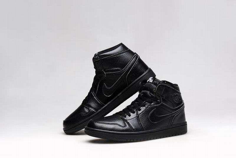 Air Jordan 1 Retro High Men Casual Shoes All Black