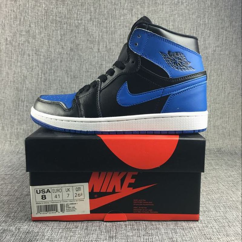 Air Jordan 1 Retro High Men Casual Shoes Black Royal Blue