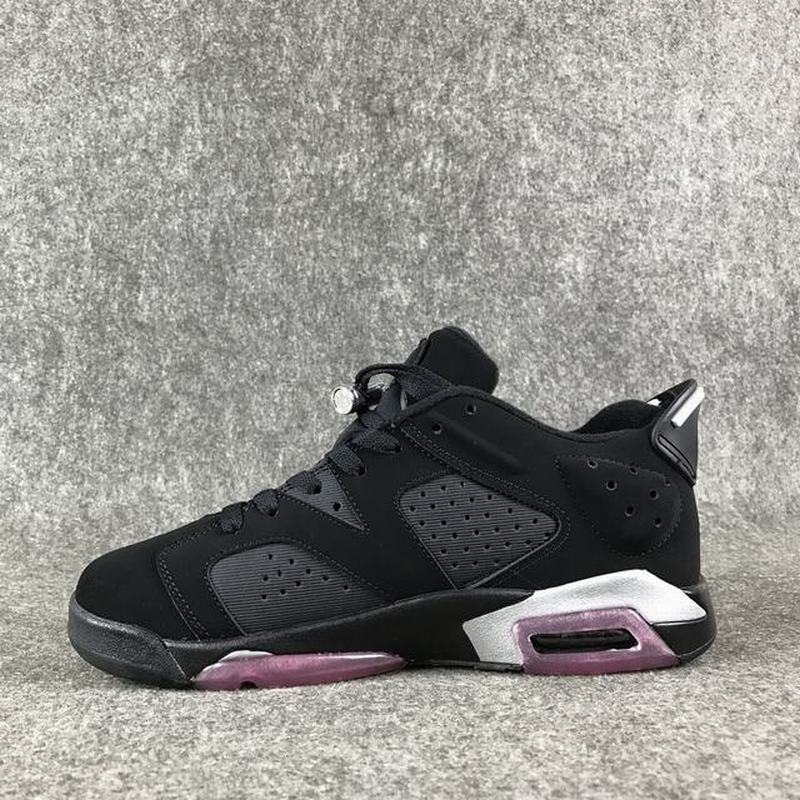 Air Jordan 6 Unisex Casual Shoes Black Pink