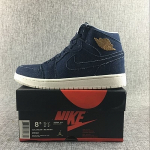 Air Jordan 1 Mid Men Casual Shoes Blue Cowboy