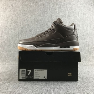 Air Jordan 3 Men Casual Shoes Chocolate