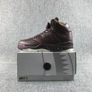 Air Jordan 5 Men Casual Wine Red